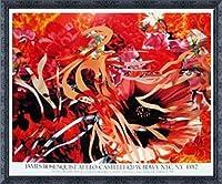 ポスター ジェームズ ローゼンクイスト Pearls Before Swine Flowers before Flames 1990年 限定1000枚 額装品 デコラティブフレーム(ブラック)