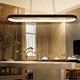 Modern LED Pendant Lights, Metal Island Hanging Lamp for Dining Table, Pendant Lamps Ceiling Lighting for Dining Room, Living Room and Kitchen,Black,120CM