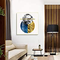 ズアン インテリアシックな絵画、ポストモダンの抽象的な幾何学模様、アルミ合金のゴールドフレーム、補強された背面パネル、高精細インクジェットプロセス、防塵ガラス、 (Size : 40*40cm)