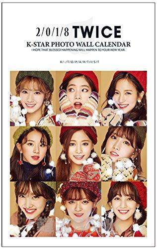 TWICE (トゥワイス) 2018年 (平成30年) フォト 壁掛けカレンダー グッズ (2018 K-Star Photo Wall Calendar)
