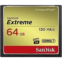 Sandisk ( サンディスク ) 64GB コンパクトフラッシュメモリーカード EXTREME ( 最大読込 120MB/s 最大書込 85MB/s ) SDCFXSB-064G-G46 [ 海外パッケージ ]