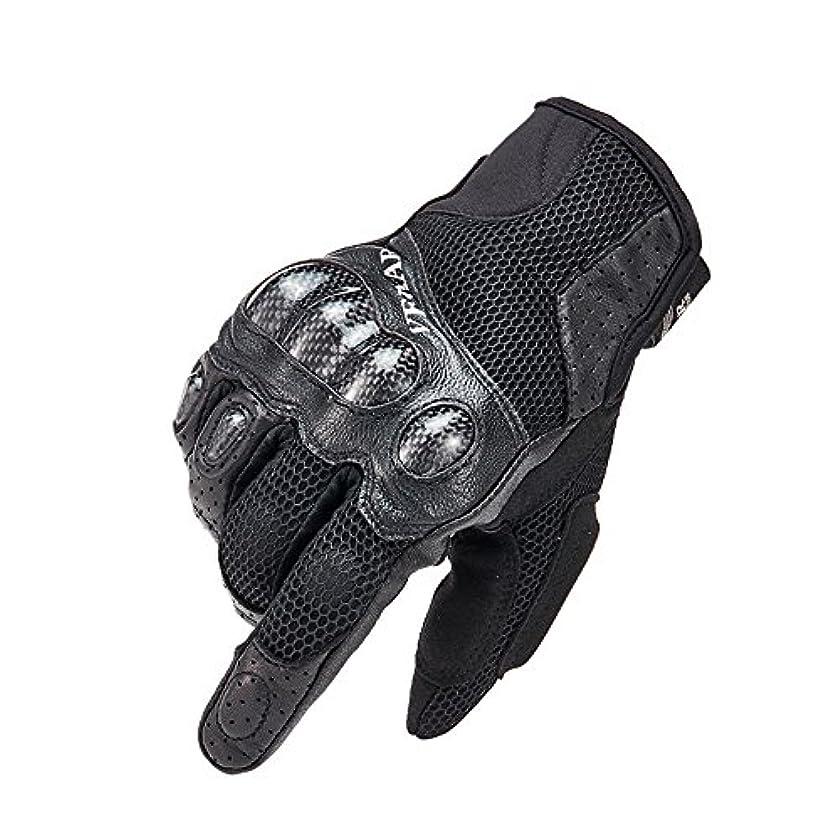 天才納得させる有毒タッチスクリーンオートバイ用手袋 バイク クライミング ハイキング ハンティング アウトドアスポーツ用品手袋 フルフィンガーサイクリンググローブ (色 : ブラック, サイズ : L)