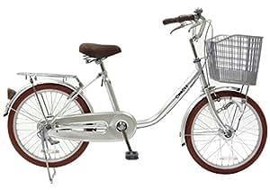 CHACLE(チャクル) 空気入れ不要! ノーパンク自転車 軽快車 20インチ [LEDオートライト、低床フレーム、大型樹脂バスケット] シルバー FN-CC20HD