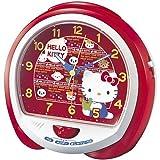 SEIKO CLOCK セイコークロック 「HELLO KITTY」 目覚し時計 CQ114Rの画像