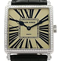 (ロジェ・デュブイ)ROGER DUBUIS 腕時計 ゴールデンスクエア ダイヤベゼル 世界限定28本 G40 K18WG/革 中古