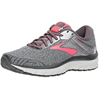 Brooks Women's Adrenaline GTS 18 Ebony/Silver/Pink Running Shoe 8.5 Women US