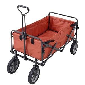 テントファクトリー キャリーワゴン オールランド ワゴン (容量約100L 積載重量約80kg カバー取り外し丸洗い可) テラコッタ TF-MXCW-TER