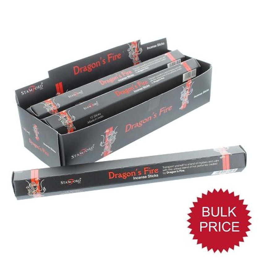 作りますプーノ祈りStamfordブラックIncense Sticks – Dragons Fire 37128