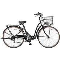 キャプテンスタッグ(CAPTAIN STAG) 自転車 バレイ 26インチ 折りたたみ自転車 FDB266 ( シマノ6段変速 LEDオートライト リング錠 リアキャリア 前後泥よけ )標準装備 ブラック YG-216
