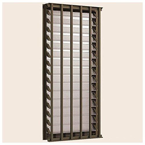 TOSTEM アルミサッシ デュオPG 装飾窓 縦面格子付ダブルガラスルーバー窓 サッシ寸法W405*H570 03605