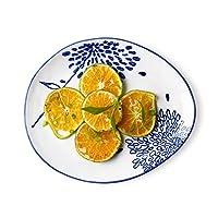 Ljf フルーツプレート、和風クリエイティブ寿司食器、セラミック朝食プレート、サラダプレート、洋食ステーキプレート、ホテルレストランデザートプレート (Color : ONE)