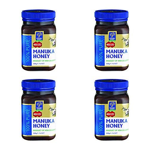 MANUKA HEALTH マヌカヘルス ニュージーランド産はちみつ マヌカハニー MGO250+ 500g 日本語表示ラベル 4個セット