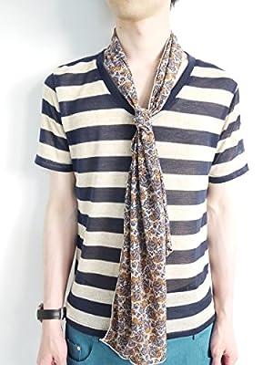 (モノマート) MONO-MART 10color 麻混 半袖 Vネック サマーニット カットソー メンズ