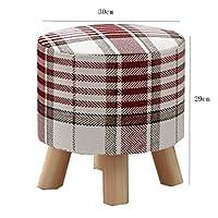 ヨーロッパの椅子のフットスツール、ファッションクリエイティブソリッドウッドスツール、靴のベンチ、子供大人ホーム GMING (色 : A)