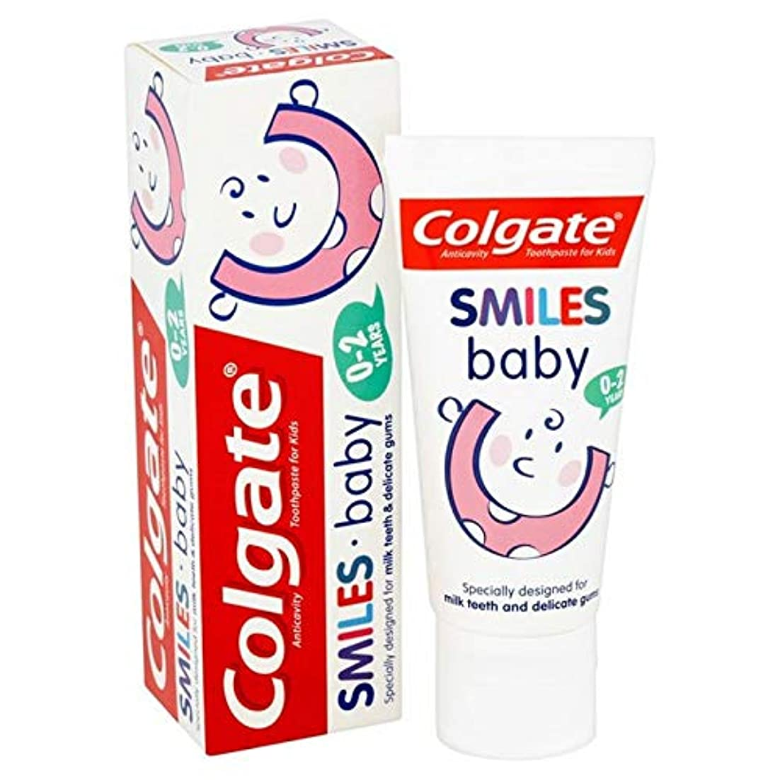 空中水平脱走[Colgate ] コルゲートは、赤ちゃんの0-2年の歯磨き粉50ミリリットルを笑顔 - Colgate Smiles Baby 0-2 years Toothpaste 50ml [並行輸入品]