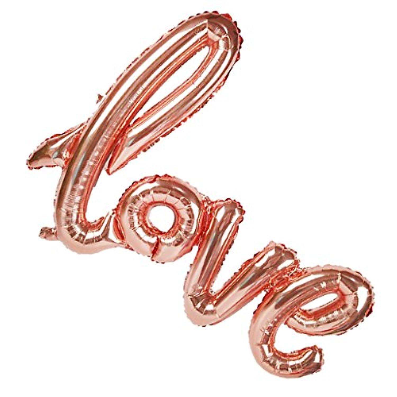 Fenteer フォイルバルーン 風船 バルーン 再利用可 ロマンチック LOVE ラブ ウェディング 結婚式 プロポーズ パーティー デコレーション ローズゴールド