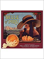 Piru、カリフォルニア–BelleのPiruブランド–ヴィンテージラベル( Playingカードデッキ–52カードPokerサイズwithジョーカー)