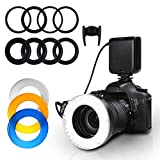 SHOTORY カメラ/一眼レンズカメラ用 RF550D フラッシュ・スピードライト LEDリングライト 立体感強調 Nikon/Canon/Pentax/Olympus/Matsushitaなどに対応