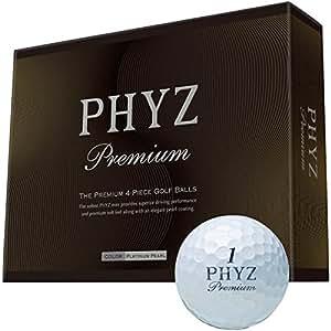 BRIDGESTONE(ブリヂストン) PHYZ プレミアム ゴルフボール 1ダース(12個入り) PMUX プラチナムパール