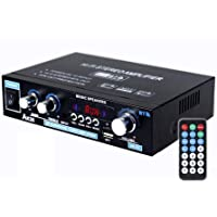 Bluetooth5.0 アンプ パワーアンプ 50W×2 オーディオアンプ スピーカー USB/TFカード再生可 Hi…