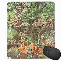 ディズニー 不思議の森のツリーハウス 隠し絵 マウスパッド ゲーミング オフィス最適 高級感 おしゃれ 防水 耐久性が良い 滑り止めゴム底 適用 マウスの精密度を上がる( 22*18*0.3cm )