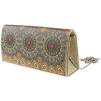 MagiDeal Women's Classic Bag Evening Clutch Bag Dinner Wedding Purse Handbag
