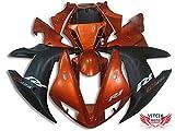 VITCIK 外装パーツセット プラスチックABS射出成型 完全なオートバイ車体 フェアリングキット アフターマーケット車体フレーム 対応車種 ヤマハ Yamaha YZF1000R1 02-03 02 03 YZF1000 R1 2002-2003 2002 2003(オレンジ & ブラック) A010