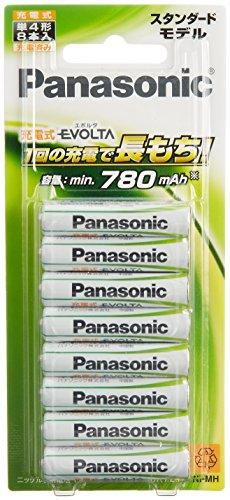 パナソニック 充電式EVOLTA 単4形充電池 8本パック スタンダードモデル BK-4MLE/8B