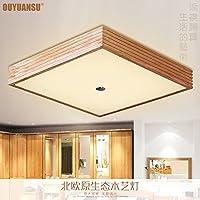 Lights CC モダン ミニマリストスタイル リビングルーム用 木製天井ライト 木製 日本の主寝室用ライト 400mm クリエイティブアート