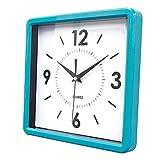 掛け時計 角型(ブルー)