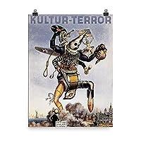 ヴィンテージポスター–kultur-terror–プレミアム光沢フォト用紙ポスター 18x24