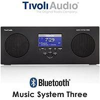 Tivoli Audio Bluetoothワイヤレスクロック AM/FMラジオステレオスピーカー MUSIC SYSTEM THREE BT ブラック MSY3-1758-JP