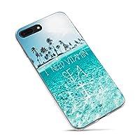 iPhone 6 Plusケース、iPhone 6s Plusケース、Summer Tropical Beach Love Lifeの引用符と推測の引用私はiPhone 6 Plus/iPhone 6s Plus用のビタミンシーパームツリーブルークリーンオーシャンアロハハワイソフトケースが必要