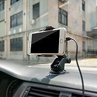 RaiFu 車載充電器 無線充電器 自動 赤外線センサー 高速 携帯電話 チャージャー 吸盤式 360度回転 急速充電 重力で自動調節
