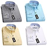 (ワイ-ミー)Y-ME 長袖ワイシャツ 4枚セット 形態安定 44 D