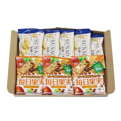 グリコ SUNAO〈発酵バター〉(5コ)& 毎日果実 アップル&マンゴー(3コ)セット