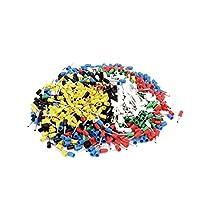 uxcell 絶縁フェルール プラスチック メタル プラスチック製スリーブ ワイヤーフェルール 900個入り