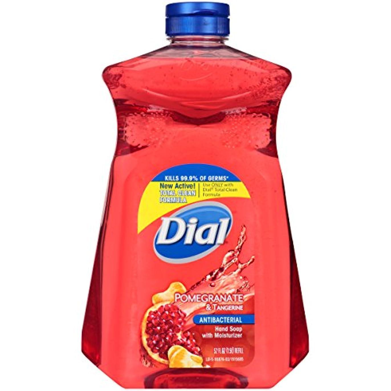 オピエートファンシー振るDial Pomegranate & Tangerine Refill Antibacterial Hand Soap, 52 FL OZ by Dial