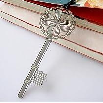 幸せの四つ葉シリーズ 銀の鍵 ステンレス金属 しおり ブックマーク