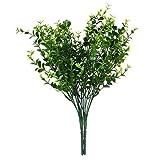 SONONIA 4束 お買い得 プラスチック製 ホーム インテリア 人工観葉植物 人工植物 小葉 造花 人工ユーカリ草 緑色