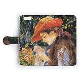 iPhone ケース 【手帳型】 - 「世界の名画」 ルノワール/縫物をするマリー・テリーズ・デュラン・リュエル嬢 - カード収納付 スマホケース スマホカバー (iPhone 6/iPhone 6s)