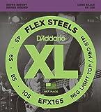 D'Addario ダダリオ ベース弦 フレックススティール Long Scale .045-.105 EFX165 【国内正規品】