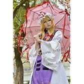 LUGANO---- 東方project 東方妖々夢 八雲紫 風 衣装+ウイッグ コスプレ衣装