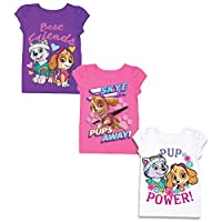 Paw Patrol Girls 3 Pack T-Shirt Bundle
