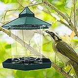 トトハウス(TOTO HOUSE) 屋根 付き バード フィーダー 鳥 用 給餌器 餌台 小鳥のエサ台 雀用 吊り下げタイプ バードウォッチング