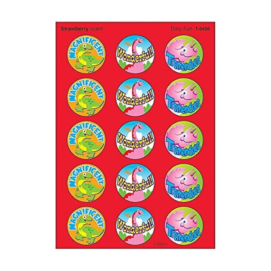 百科事典ソビエト計画的トレンド ごほうびシール 香り付 恐竜 60片 Trend Stinky Stickers Dino Fun Strawberry T-6406