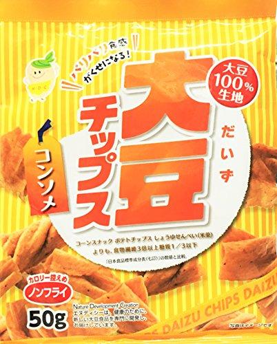 テックスインターナショナル 大豆チップス コンソメ味50g×10個