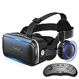 Colorfuldays 3D VRゴーグル VR ヘッドセット 4-6.4インチスマホ対応 ステレオヘッドホン実装 VR リモコン付属
