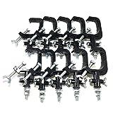 舞台 照明 用 金属 製 クランプ ハンガー ブラック 5個 10個 セット スポット ライト ステージ 照明 器具 (10個セット)
