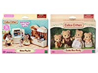 Calico Critters Kitchen Play Set Bundled with Cuddle Bear Family Doll